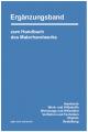 Ergänzungsband zum Handbuch des Malerhandwerks